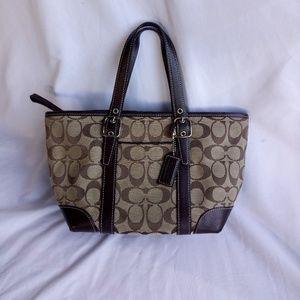 Coach mini tote bag